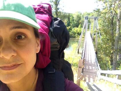 wolfe backpacking manistee river bridge