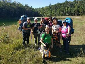 Sand Lakes Women Backpacking